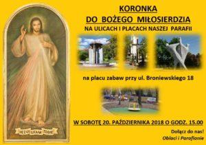 Koronka na ulicach i placach parafii